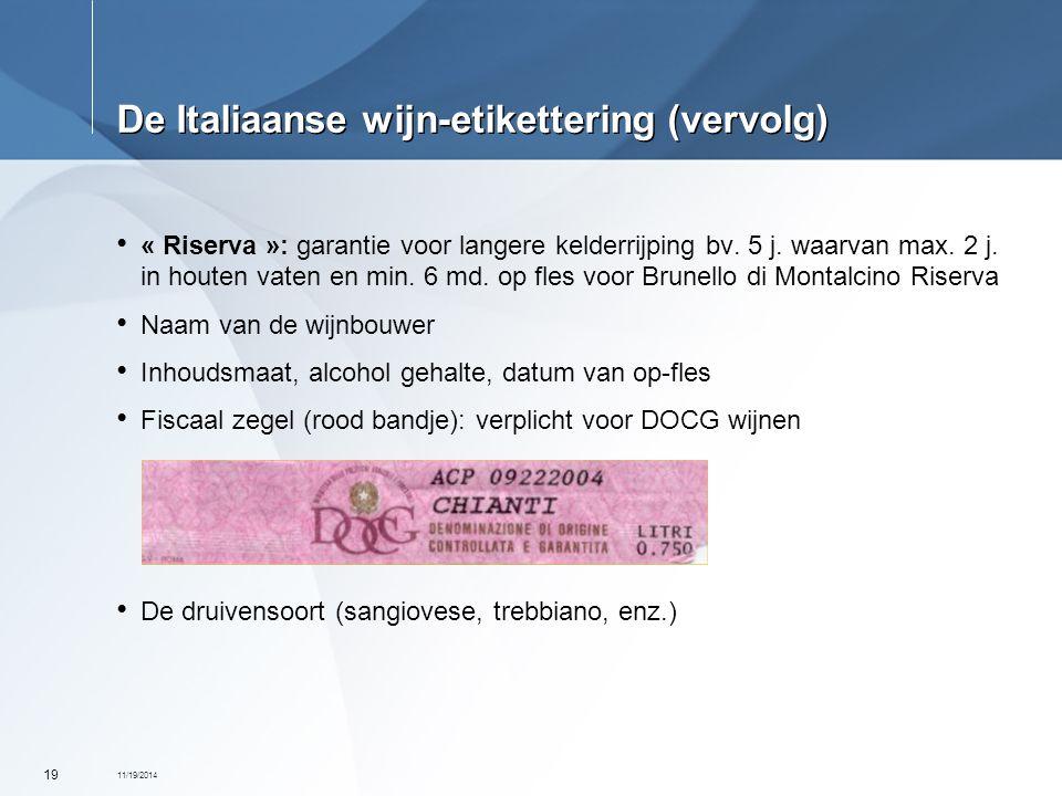 De Italiaanse wijn-etikettering (vervolg)