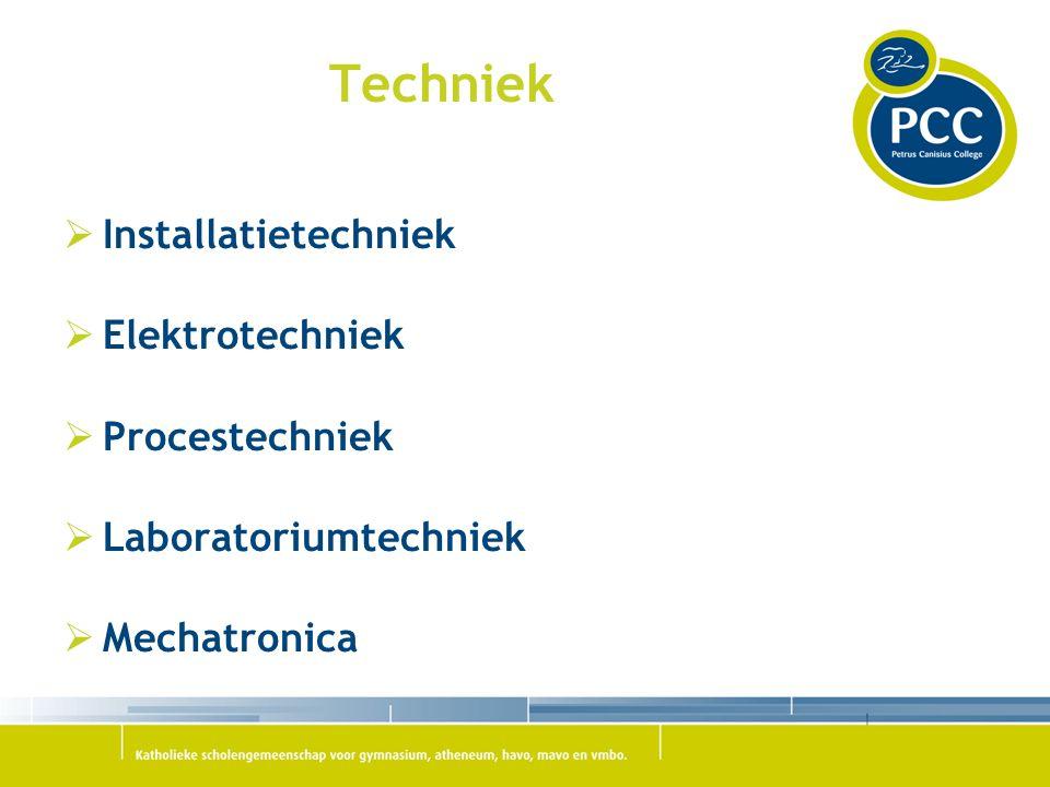 Techniek Installatietechniek Elektrotechniek Procestechniek
