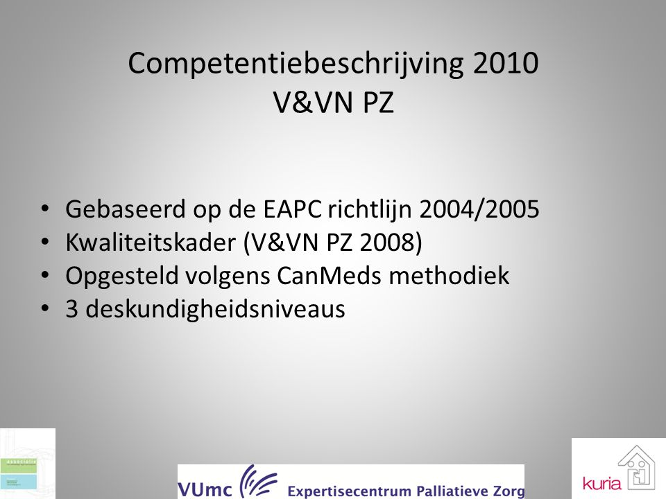 Competentiebeschrijving 2010 V&VN PZ