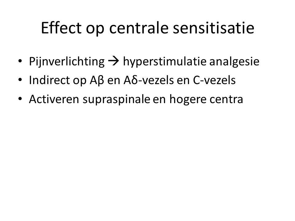 Effect op centrale sensitisatie