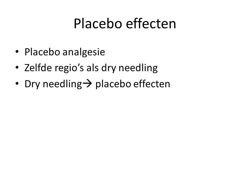 Placebo effecten Placebo analgesie Zelfde regio's als dry needling