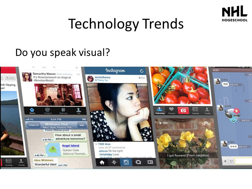 Technology Trends Do you speak visual