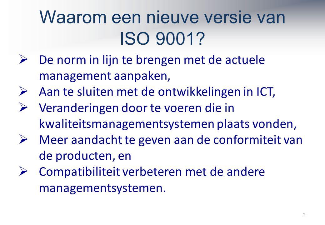 Waarom een nieuve versie van ISO 9001