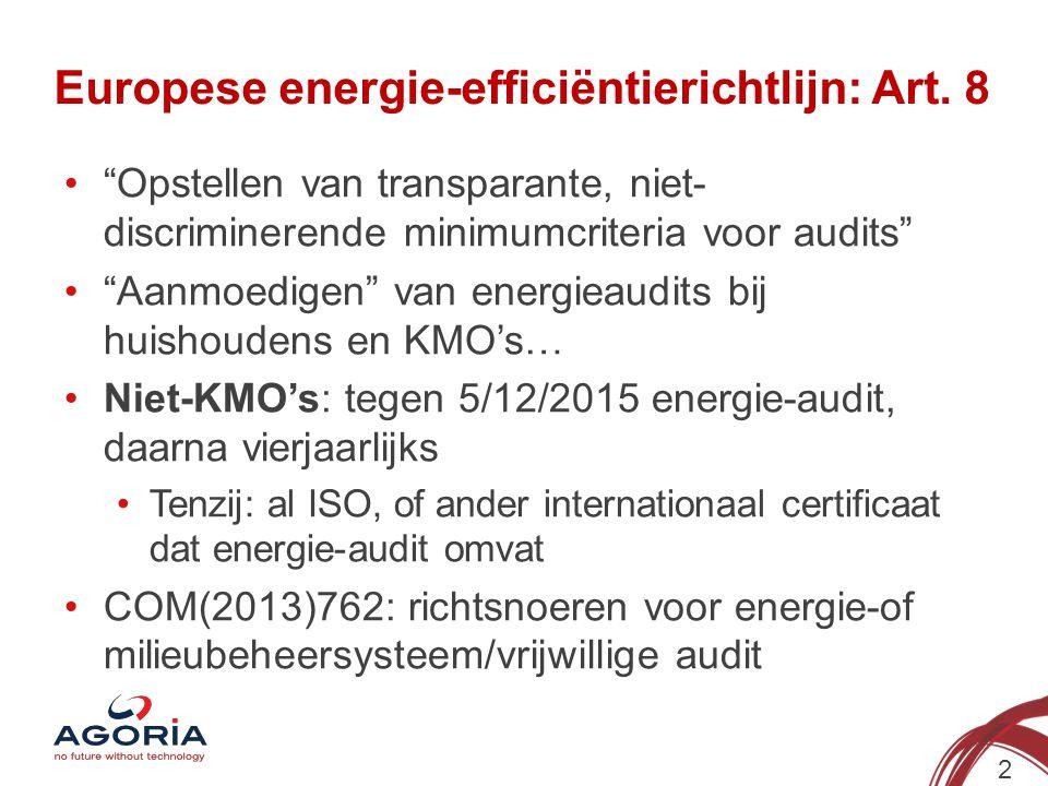 Europese energie-efficiëntierichtlijn: Art. 8