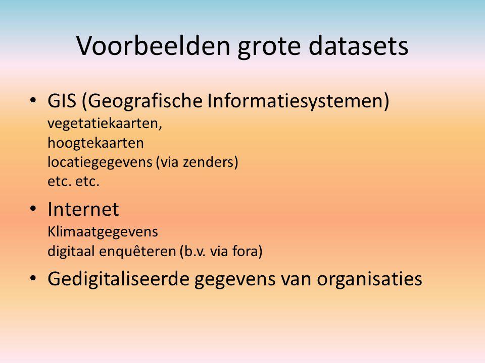 Voorbeelden grote datasets