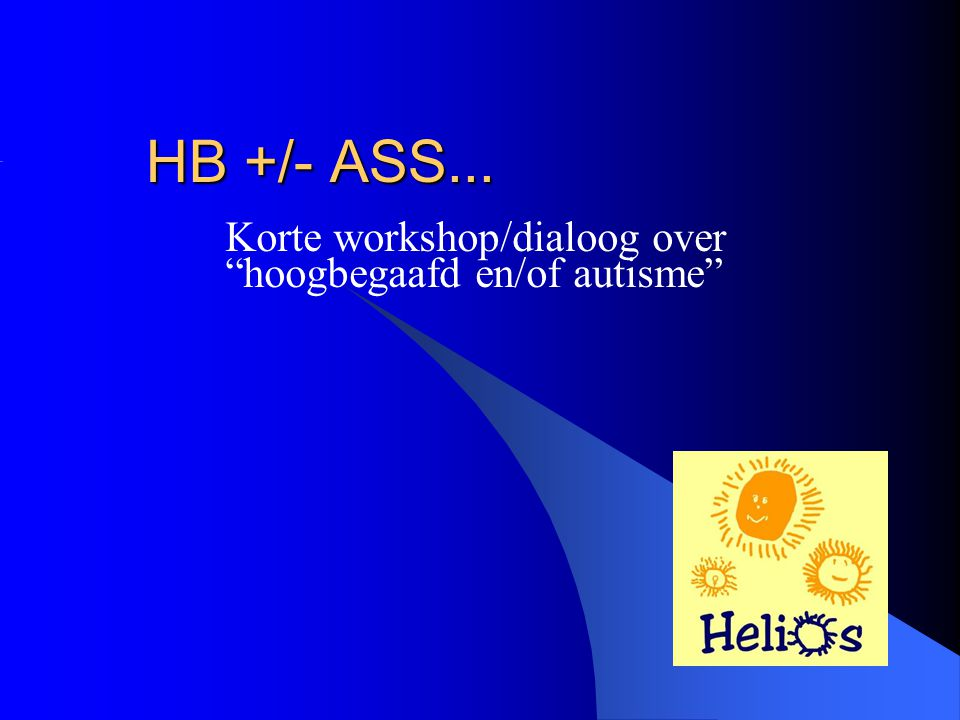 Korte workshop/dialoog over hoogbegaafd en/of autisme