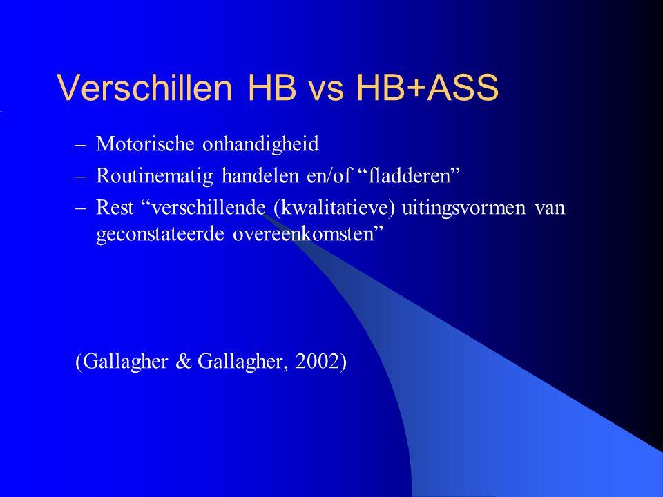 Verschillen HB vs HB+ASS
