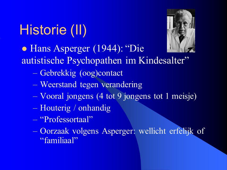 Historie (II) Hans Asperger (1944): Die