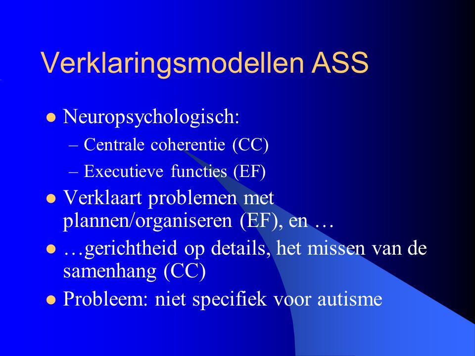 Verklaringsmodellen ASS