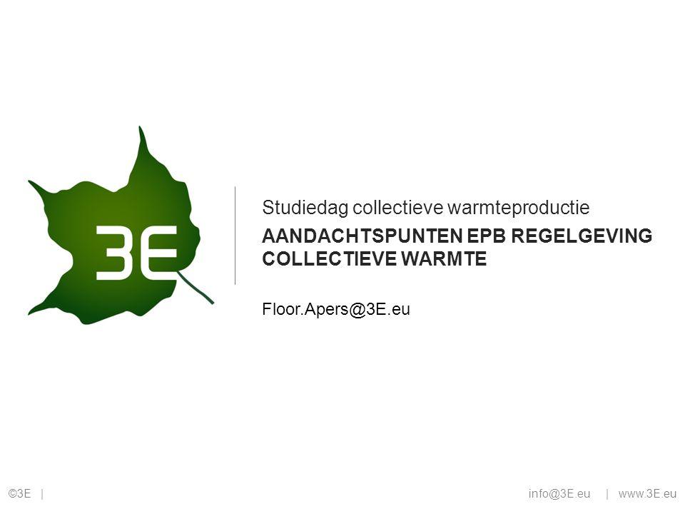 Aandachtspunten EPB regelgeving collectieve warmte