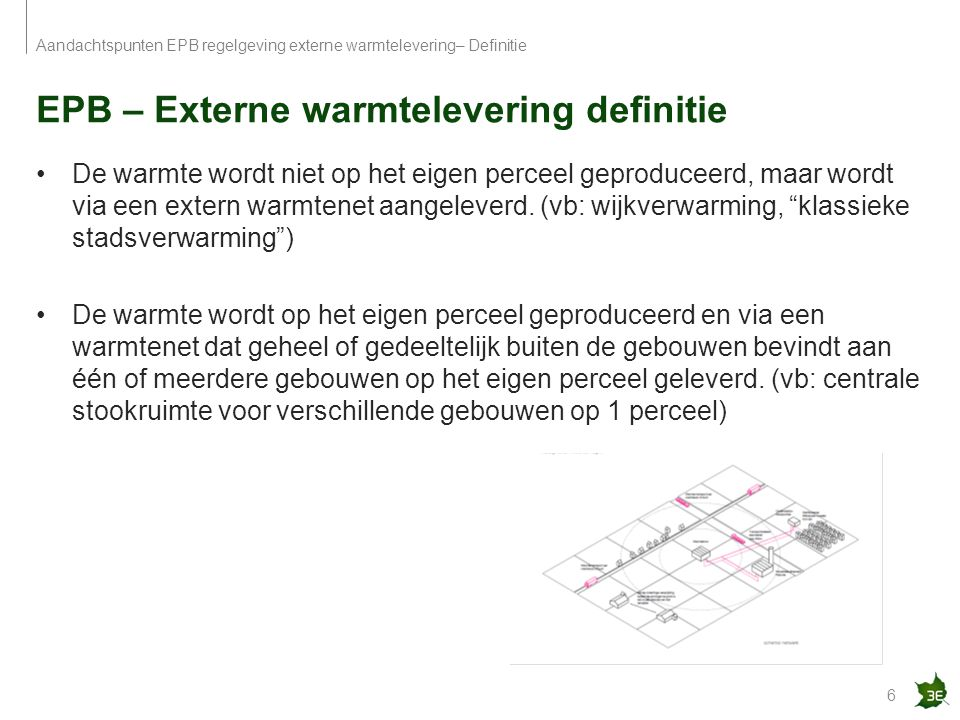 EPB – Externe warmtelevering definitie