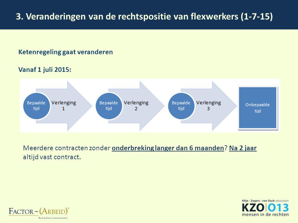 3. Veranderingen van de rechtspositie van flexwerkers (1-7-15)