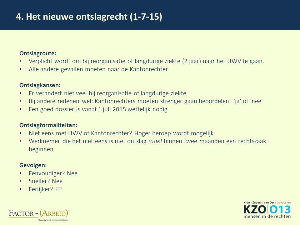 4. Het nieuwe ontslagrecht (1-7-15)