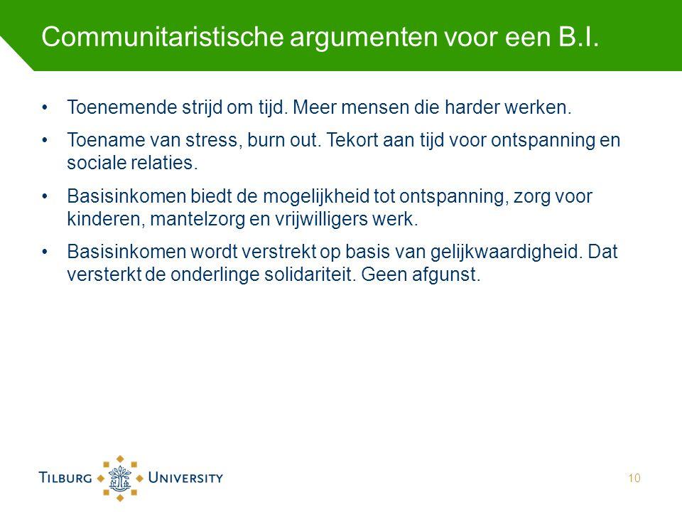 Communitaristische argumenten voor een B.I.