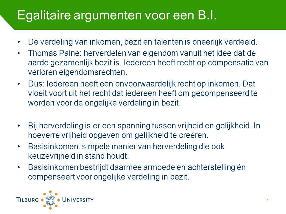 Egalitaire argumenten voor een B.I.