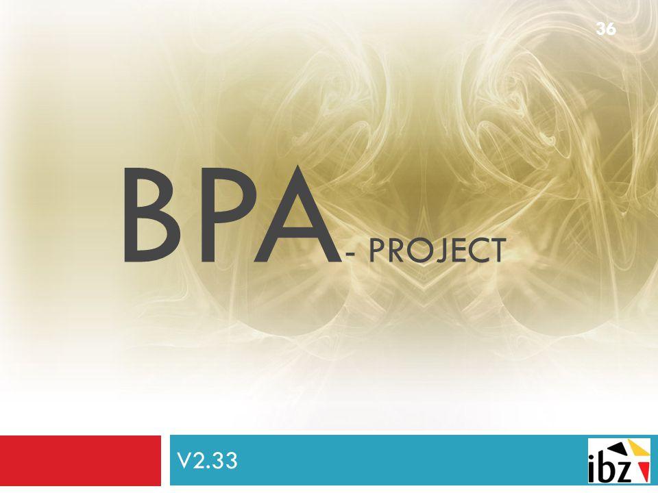 BPA- project V2.33 De brandpreventieadviseur