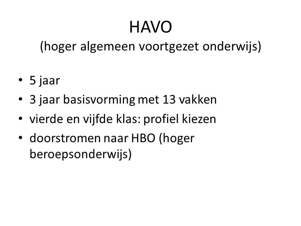 HAVO (hoger algemeen voortgezet onderwijs)