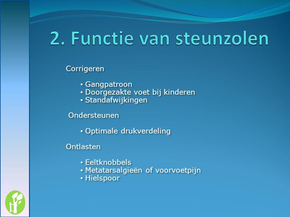 2. Functie van steunzolen