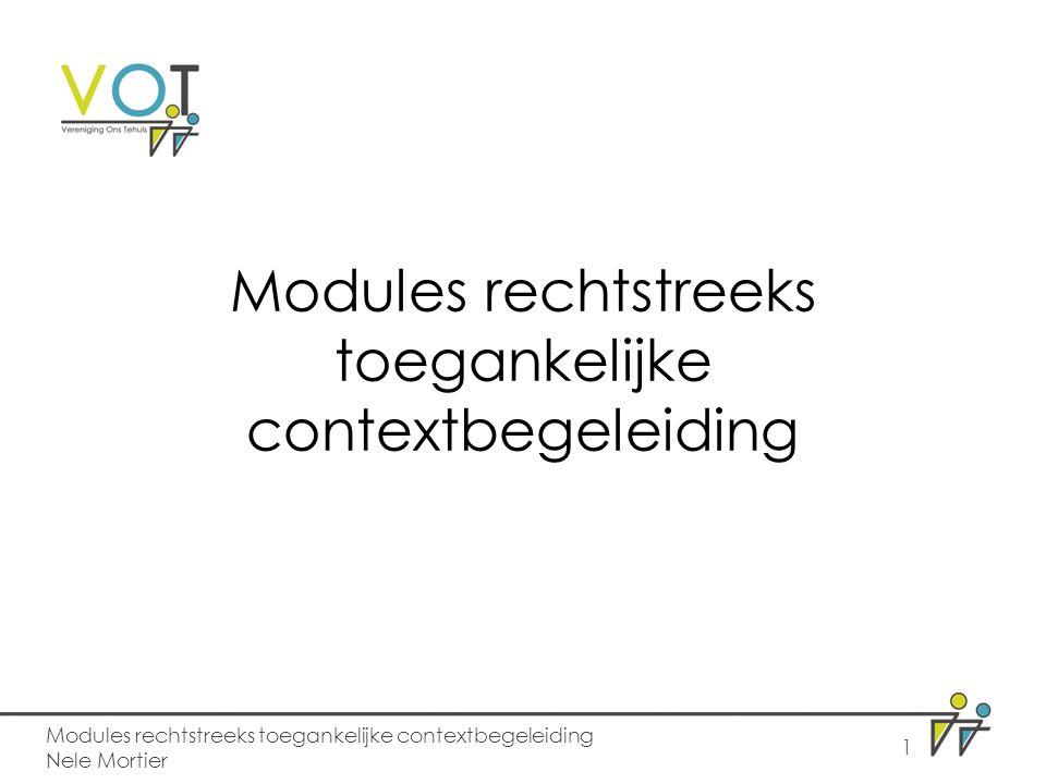 Modules rechtstreeks toegankelijke contextbegeleiding