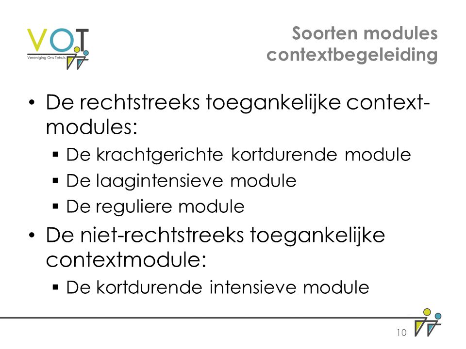 Soorten modules contextbegeleiding