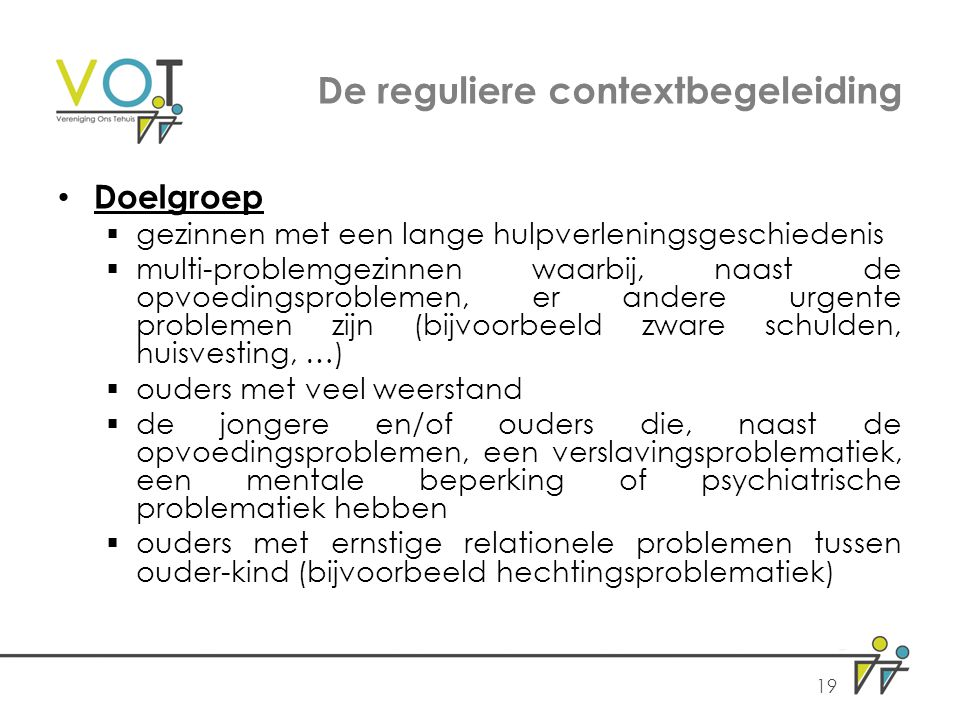 De reguliere contextbegeleiding