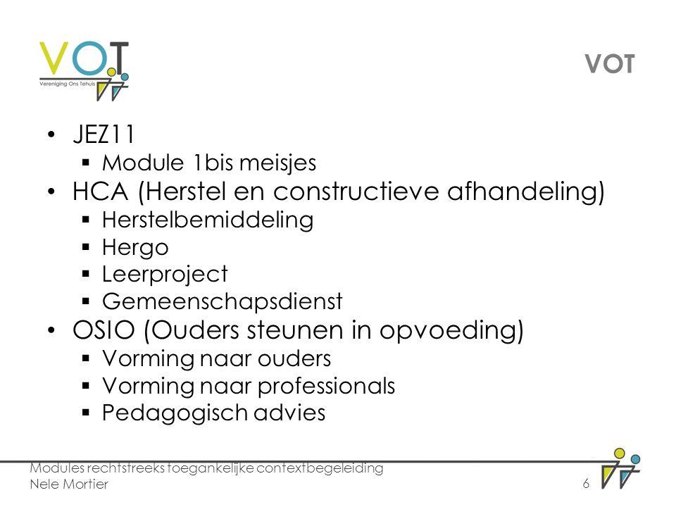 VOT JEZ11 HCA (Herstel en constructieve afhandeling)
