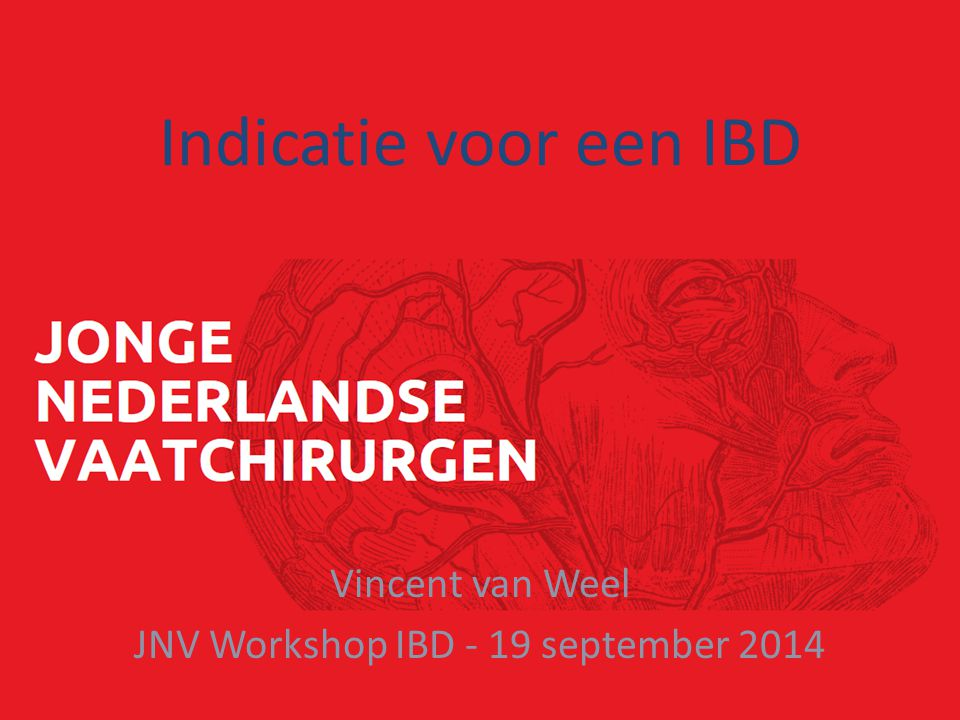 Vincent van Weel JNV Workshop IBD - 19 september 2014