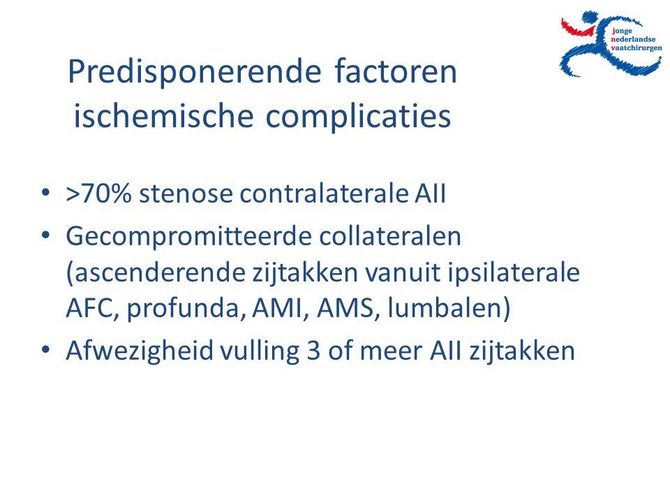 Predisponerende factoren ischemische complicaties