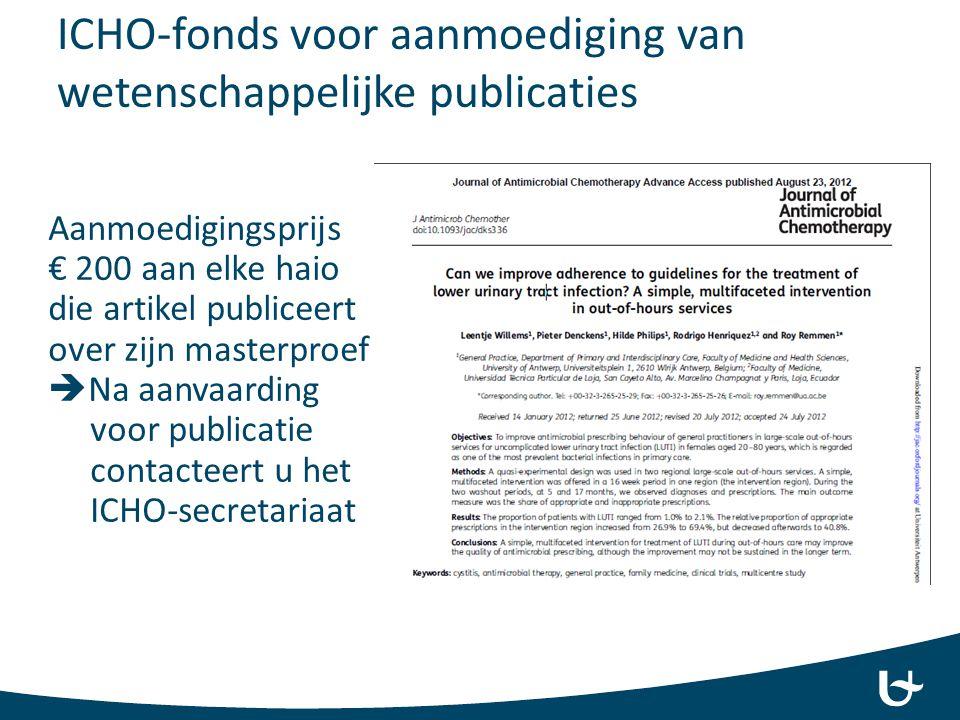 ICHO-fonds voor aanmoediging van wetenschappelijke publicaties