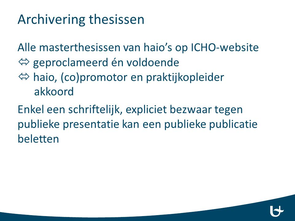 Archivering thesissen