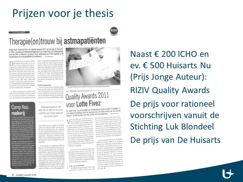 Prijzen voor je thesis