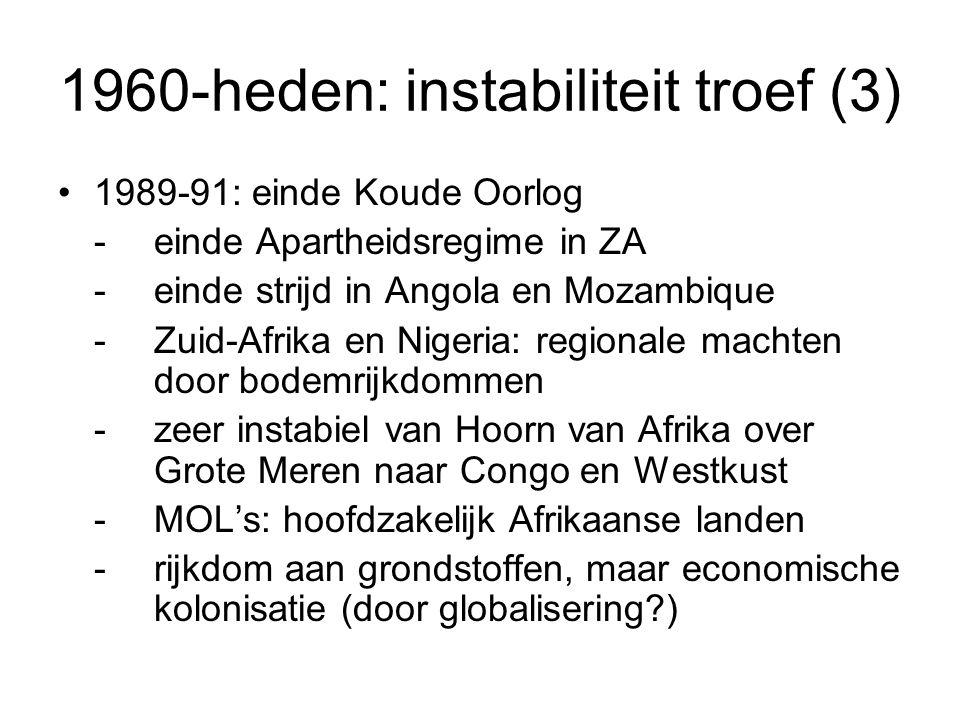 1960-heden: instabiliteit troef (3)