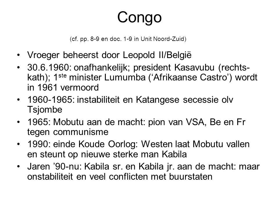 Congo (cf. pp. 8-9 en doc. 1-9 in Unit Noord-Zuid)