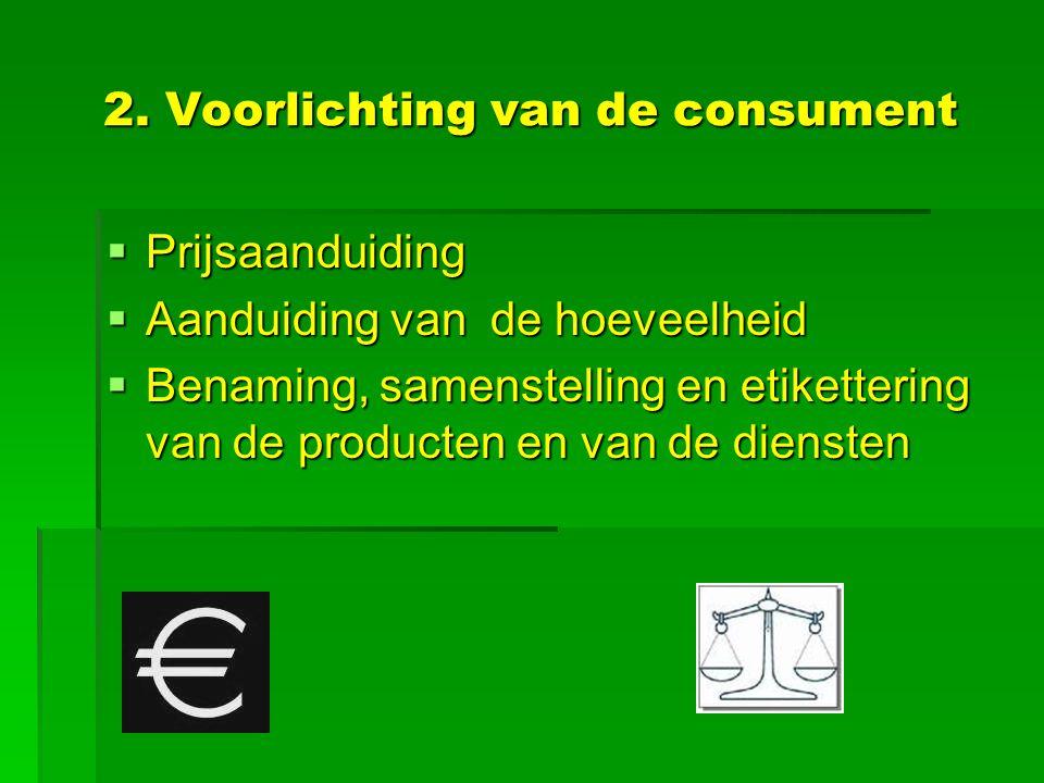 2. Voorlichting van de consument