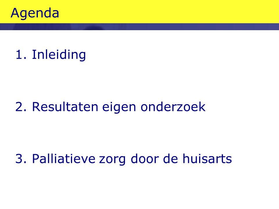 Agenda 1. Inleiding 2. Resultaten eigen onderzoek