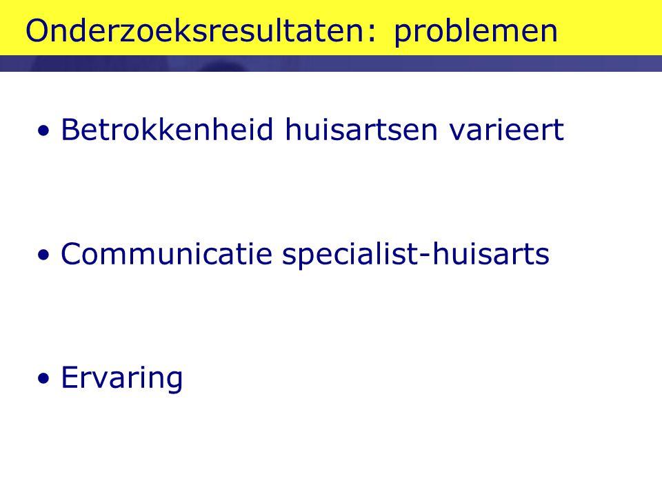 Onderzoeksresultaten: problemen