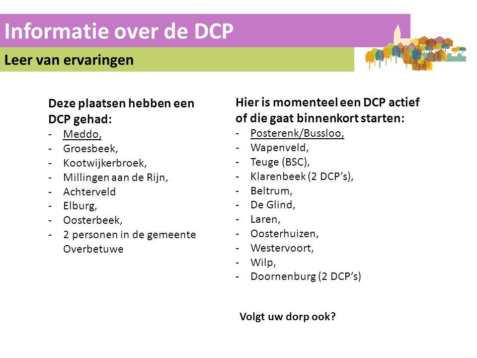 Informatie over de DCP Leer van ervaringen