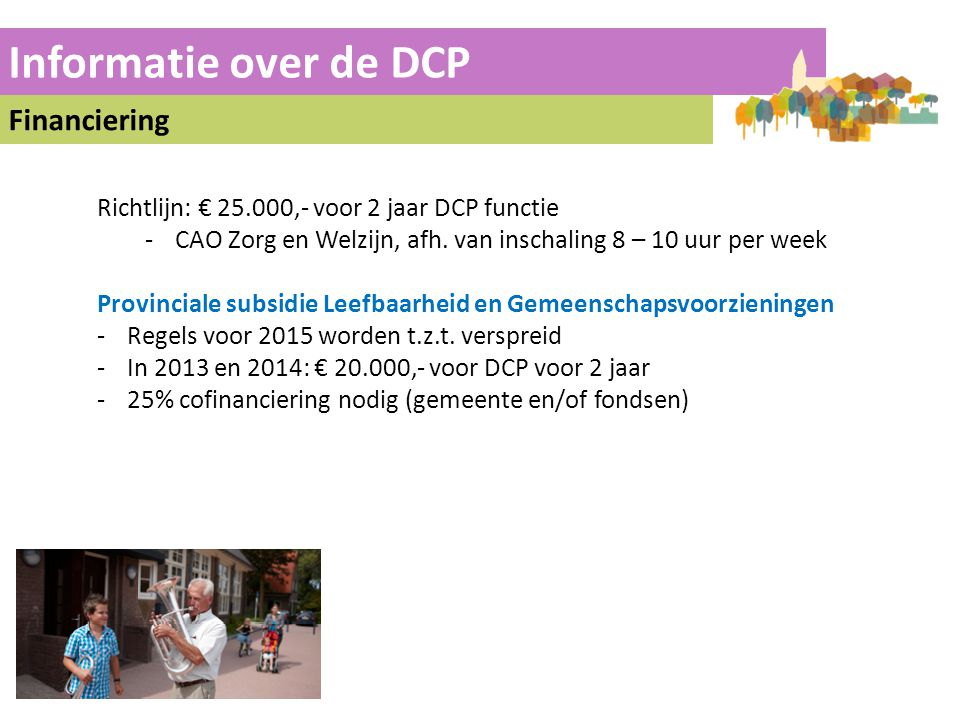Informatie over de DCP Financiering