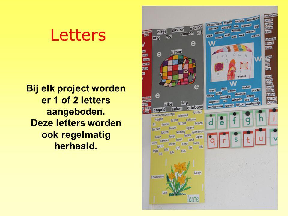 Letters Bij elk project worden er 1 of 2 letters aangeboden.