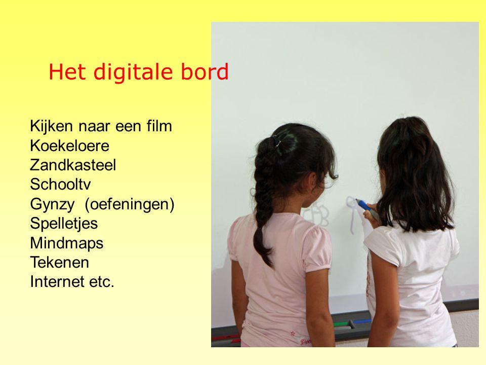 Het digitale bord Kijken naar een film Koekeloere Zandkasteel Schooltv