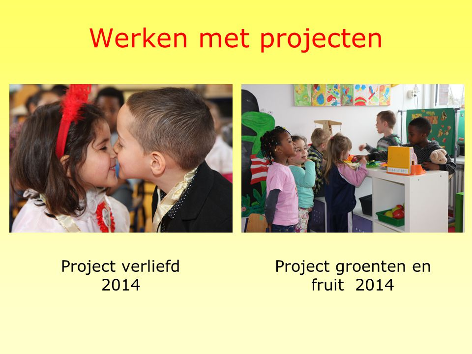 Project groenten en fruit 2014