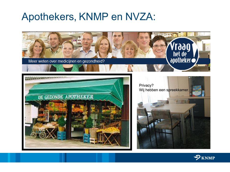 Apothekers, KNMP en NVZA: