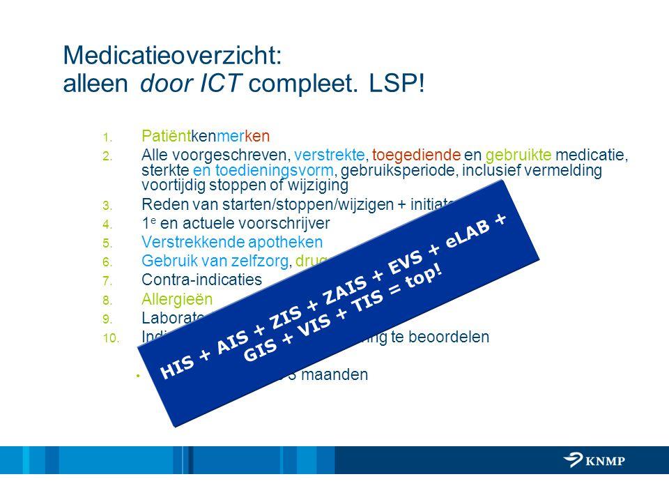 Medicatieoverzicht: alleen door ICT compleet. LSP!
