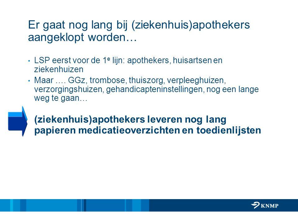 Er gaat nog lang bij (ziekenhuis)apothekers aangeklopt worden…