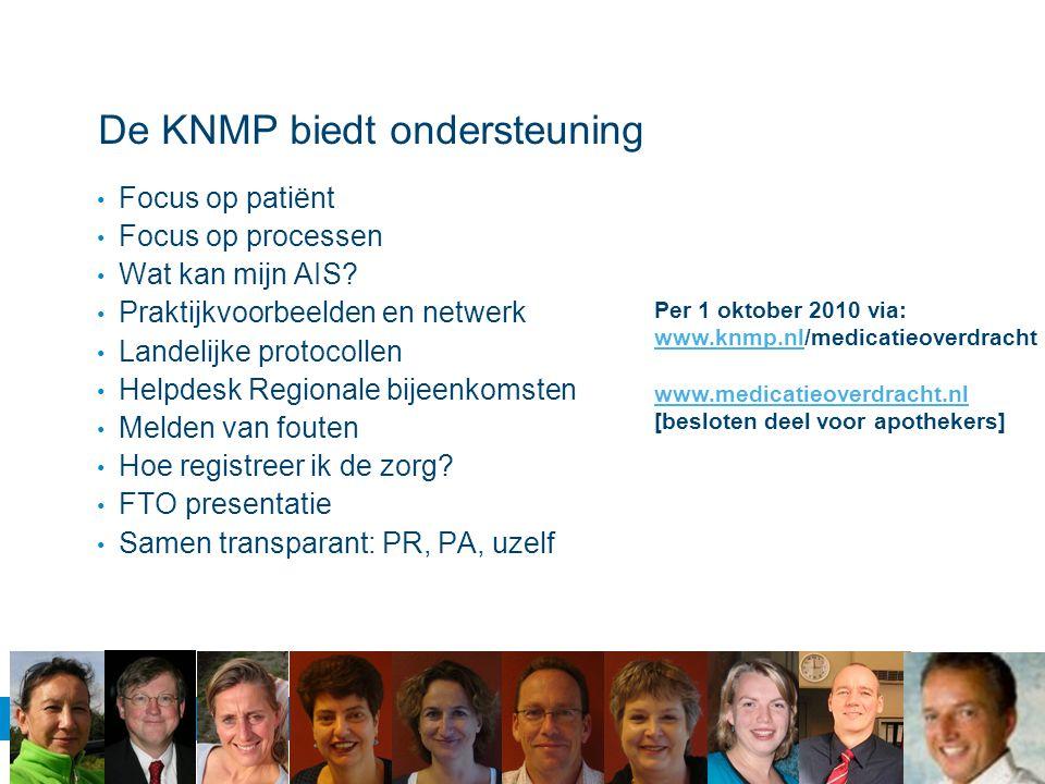 De KNMP biedt ondersteuning