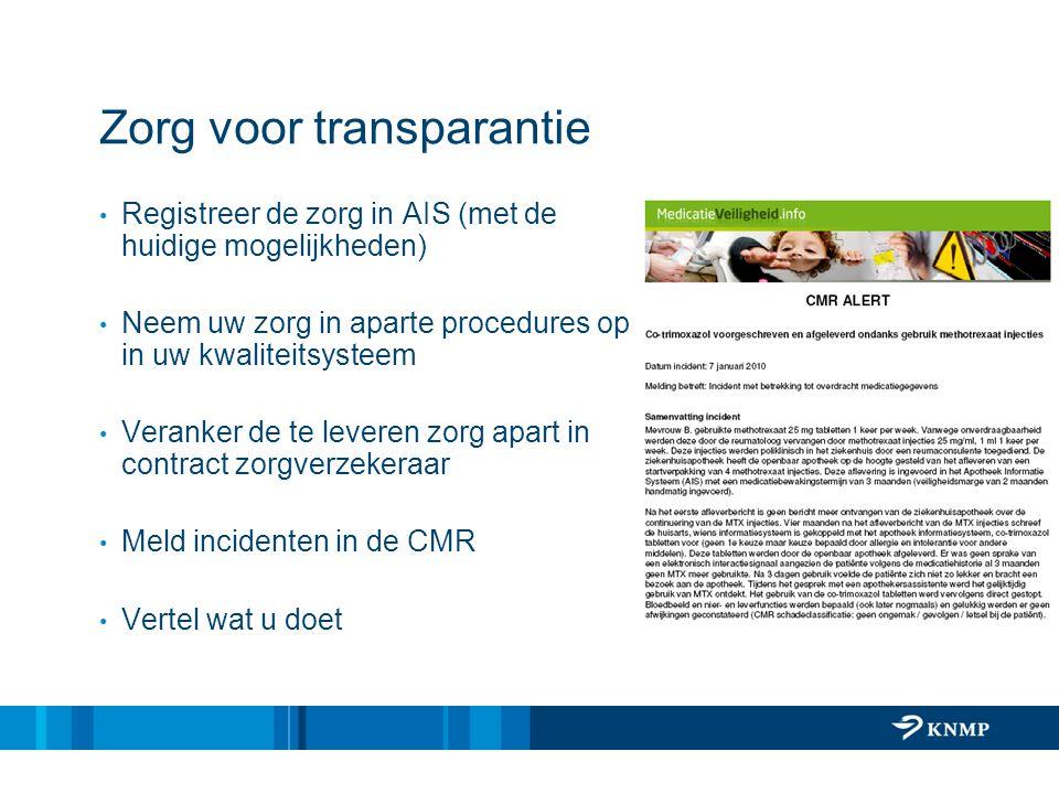 Zorg voor transparantie