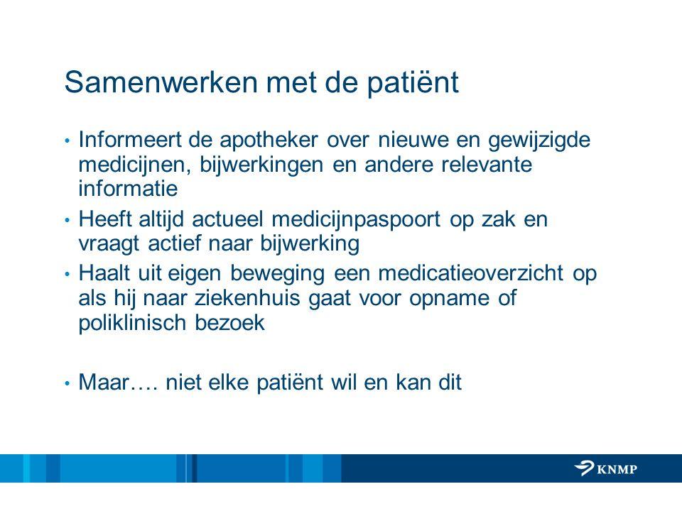 Samenwerken met de patiënt
