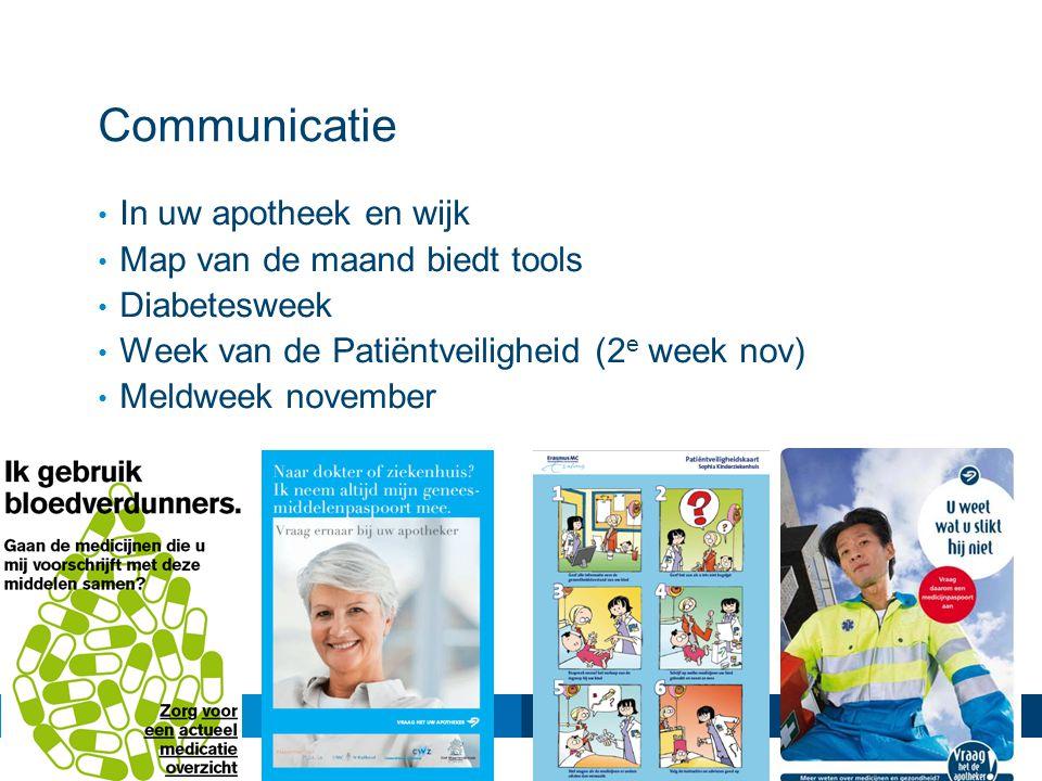 Communicatie In uw apotheek en wijk Map van de maand biedt tools