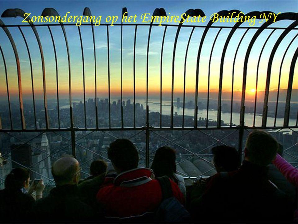 Zonsondergang op het EmpireState Building NY