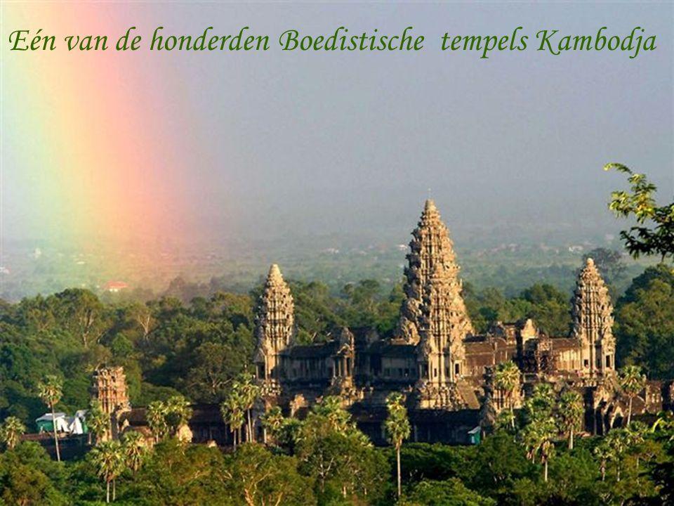 Eén van de honderden Boedistische tempels Kambodja